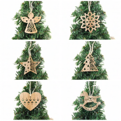 Decoraciones pendientes àrbol de Navidad 6 pcs