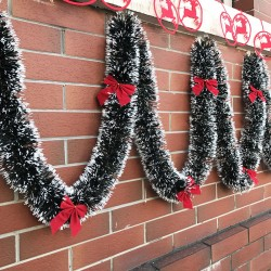 Łańcuch świąteczny wstążka girlanda 2m