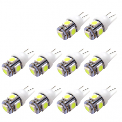 Lampadine LED T10 5SMD 5050 W5W Xenon 10 pcs