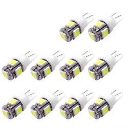 Lumières LED T10 5SMD 5050 W5W Xenon 10 pcs
