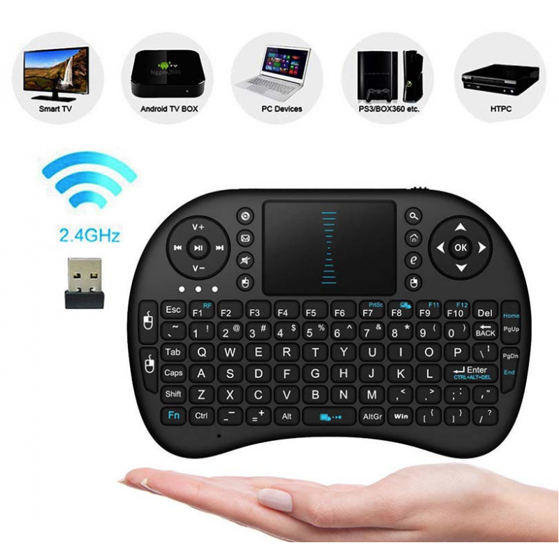 Android TV Box- PC Bluetooth Teclado Touchpad Inalámbrico