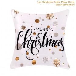 Funda almohada de Navidad de algodòn 45 * 45 cm