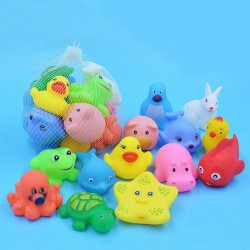Floating squeeze rubber animals toy 13 pcs
