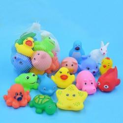 Pływające miękkie gumowe zwierzątka zabawka 13 szt