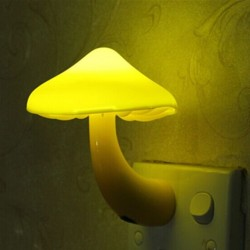 Mushroom LED wall socket lamp night light