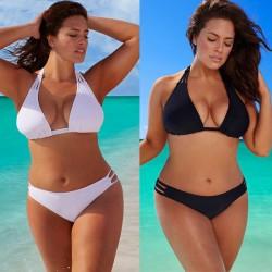 Bikini plus size de cintura baja