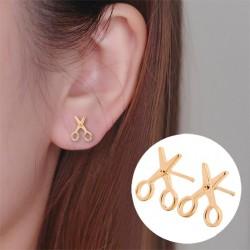 Boucles d'oreilles bouton ciseaux
