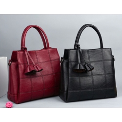 Genuine leather handtas schoudertas
