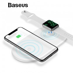 2 en 1 - chargeur de charge sans fil Baseus 10W Fast pour iPhone X - XS Max - XR Apple Watch 4/3/2 - Samsung S8 / S9