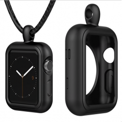Apple Watch 1/2/3/4 series siliconen case cover incl. ketting