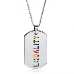 IGUALDAD collar colgante doble capa unisex