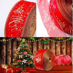 Decoración del árbol de navidad cinta 200cm