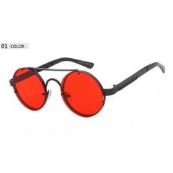 Ronde vintage steampunk zonnebril unisex