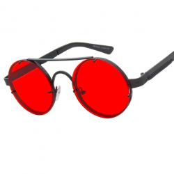 Okrągłe vintage okulary przeciwsłoneczne steampunk unisex