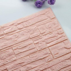 3D brick foam wallpaper