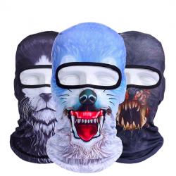 3D zwierzęta wiatroszczelna kominiarka pełnotwarzowa maska