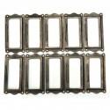 Antique brass furniture metal label frame handle 10 pcs