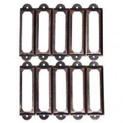 Antieke koperen meubels metalen handvat frame label houder 10 stuks
