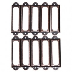 Antique brass furniture metal handle frame label holder 10 pcs