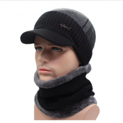 Men's winter hat & scarf set