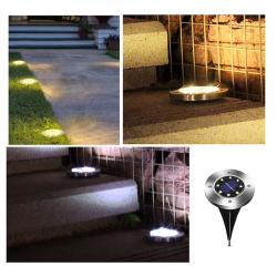8 LED ogrodowe zewnętrzne solarowe światło z sensorem wodoodporne