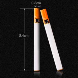 Cigarette shape refillable butane gas lighter