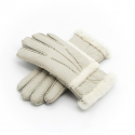 Genuine leather & cashmere & fur warm gloves