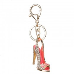 Crystal high heel shoe - keychain