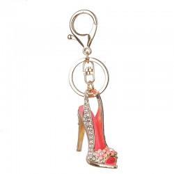 Kryształowy but na obcasie brelok do kluczy