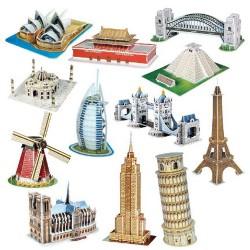 DIY papierowe puzzle zestaw montażowy zabawka