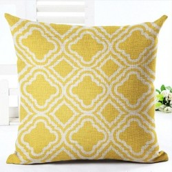 Geometric print pillowcase cushion cover case cotton 45 * 45cm