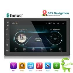Android 9 - DIN-2 Autoradio - 7'' Touchscreen - GPS - Bluetooth - FM - WIFI -MP3 - Mirrorlink