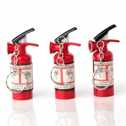 Fire extinguisher shape lighter keychain keyring