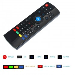 Control remoto inalámbrico FW1S Fly Air-Mouse para teclado para Android Smart TV