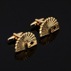 Poker cards - golden cufflinks