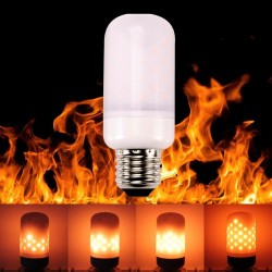E27 E26 E14 LED lamp - flame effect bulb - flickering flame light 5W SMD2835