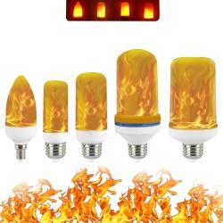 3W 5W 7W 9W E27 E26 E14 E12 85 - 265V Bombilla LED de efecto de llama de fuego