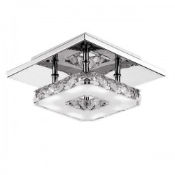 LED 12W AC 85 - 260V crystal pendant stainless steel ceiling light lamp