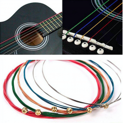 Bunte Gitarrensaiten 6-teiliges Set