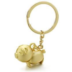 Piggy metal keychain keyring