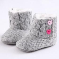 Pasgeboren - baby warme gebreide laarzen - schoenen
