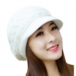 Winter knitted wool hat cap