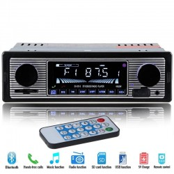 Radio pour voiture 12V 1 DIN Bluetooth stereo FM MP3 USB SD AUX