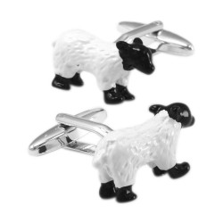 Black & white sheep cufflinks