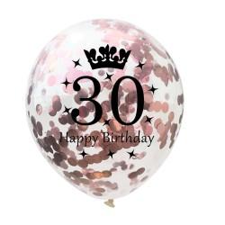 Birthday & anniversary latex balloons 12 Inch 5pc