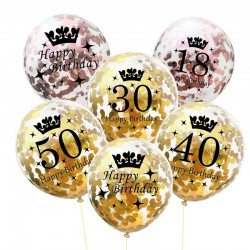 Birthday & anniversary latex balloons 12 Inch 5pc