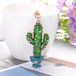 Porte-clés cristal cactus