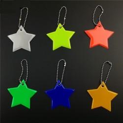 Portachiavi portachiavi con stella riflettente