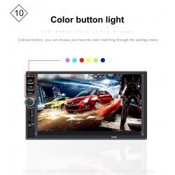 Bluetooth 7 '' calowy Din 2 LCD Ekran Dotykowy Samochodowe Radio Odtwarzacz MirrowLink