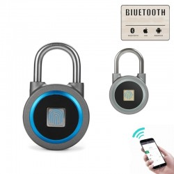 Padlock with fingerprint protection - Smart keyless entry - weatherproof - for Android & iOS
